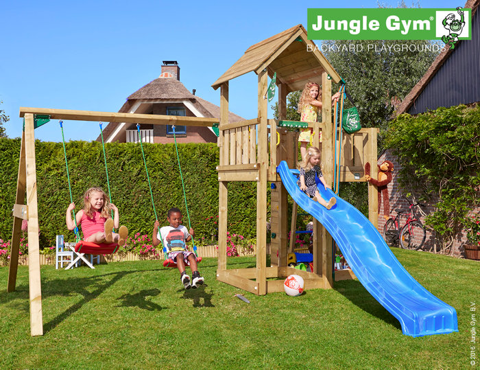 Jungle Gym Mansion legetårn med gyngemodul