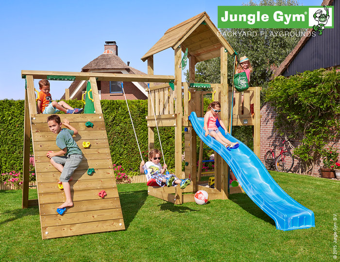 Jungle Gym Mansion legetårn med klatremodul
