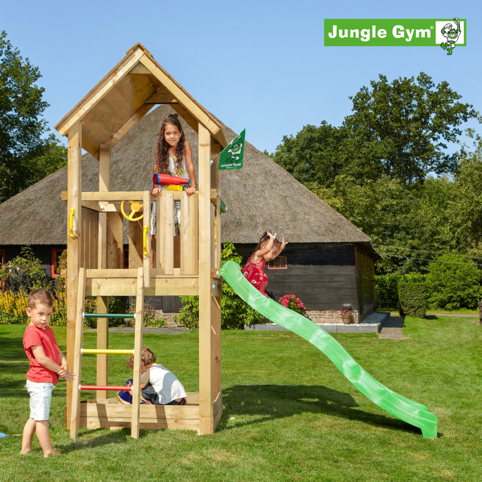 Jungle Gym Club legetårn m/rutsjebane