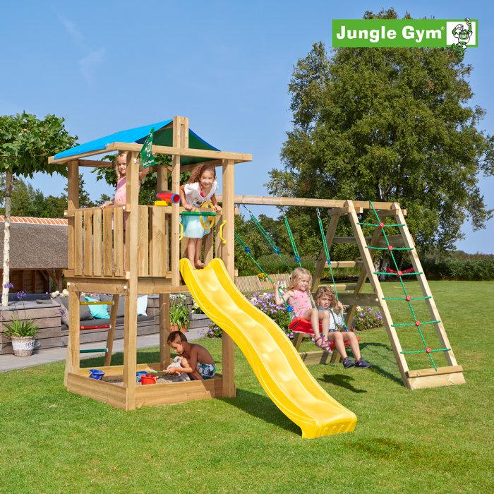 Jungle Gym Hut legetårn m/klatremodul