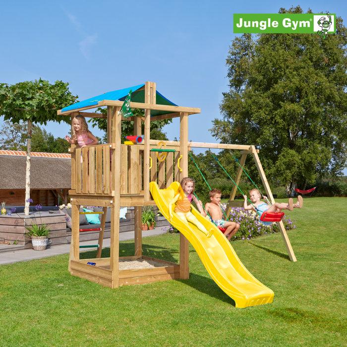 Jungle Gym Hut legetårn m/gyngemodul