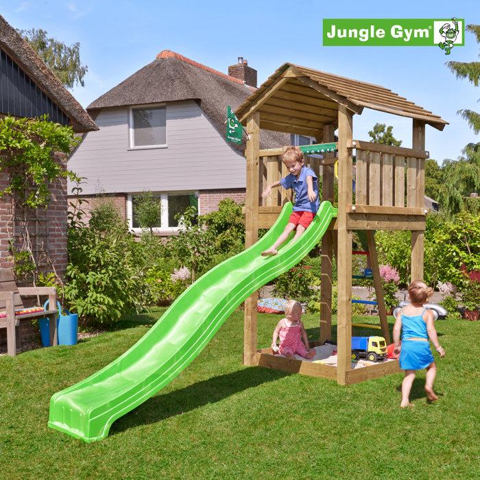 Jungle Gym Cottage legetårn m/rutsjebane