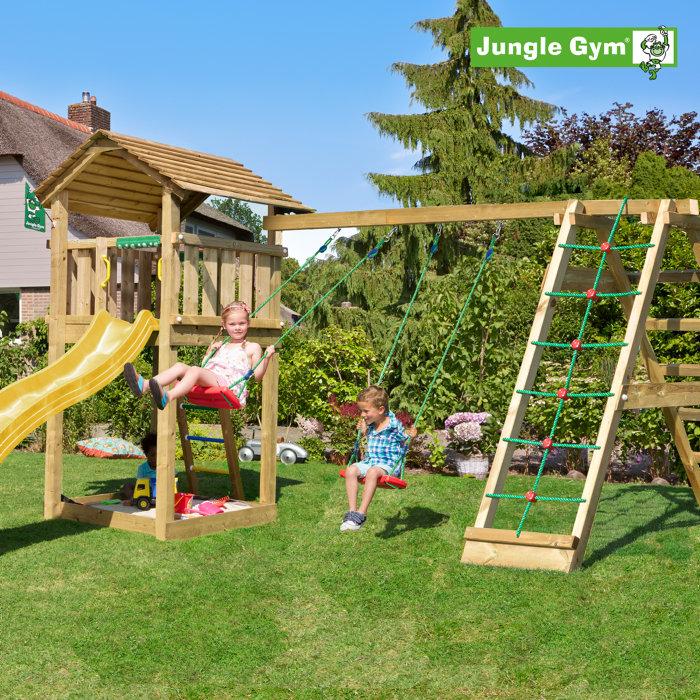 Jungle Gym Cottage legetårn m/klatremodul