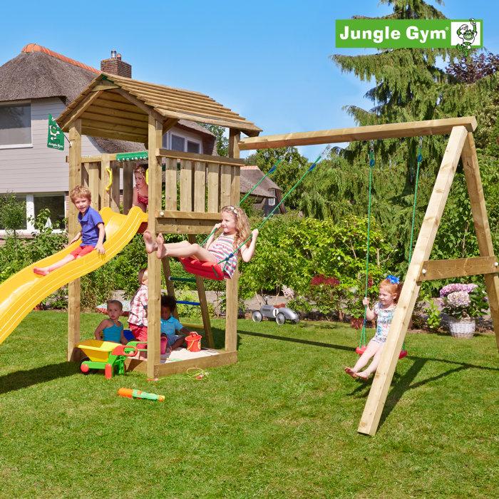 Jungle Gym Cottage legetårn m/gyngemodul