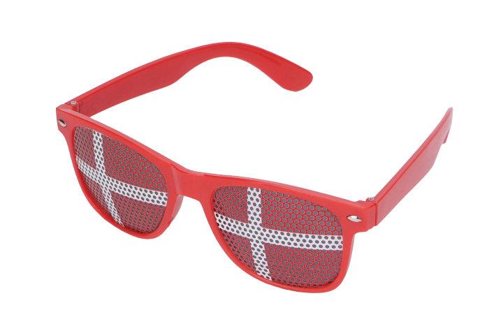 EM-briller med dannebrogsflag