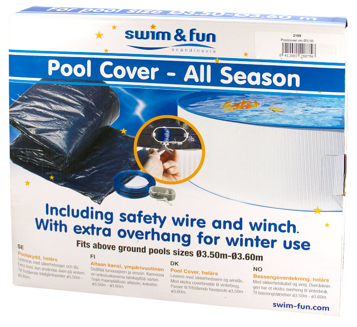 Poolcover vinter Ø3,5 m - Swim & Fun