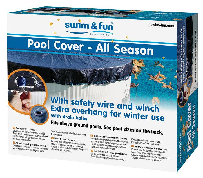 Poolcover vinter 6,1 x 3,75 m - Swim & Fun