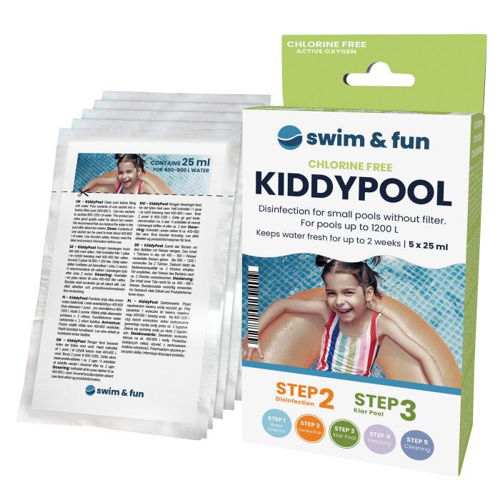 KiddyPool vandpleje til soppebassin 5 x 25 ml - Swim & Fun