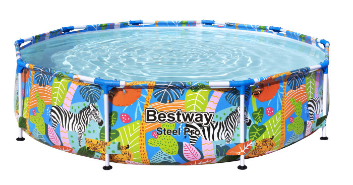 Pool med stålramme 4062 liter - Bestway