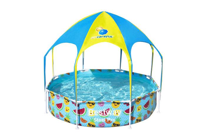 Bestway Steel Pro pool med skygge Ø244 - 1688 liter