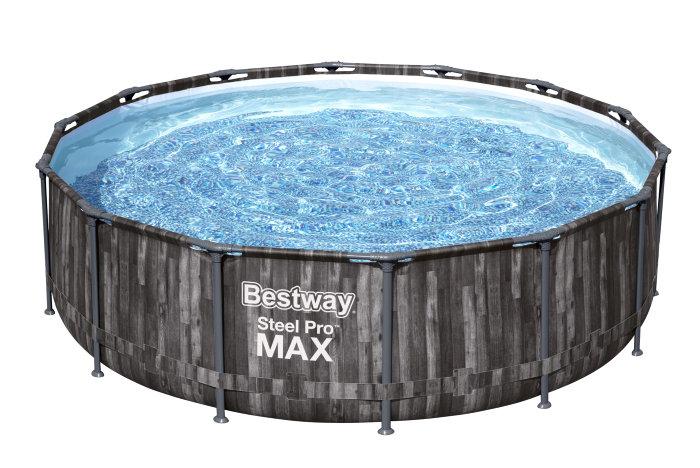 Bestway pool Steel Pro MAX Ø427 cm 13030 liter trælook