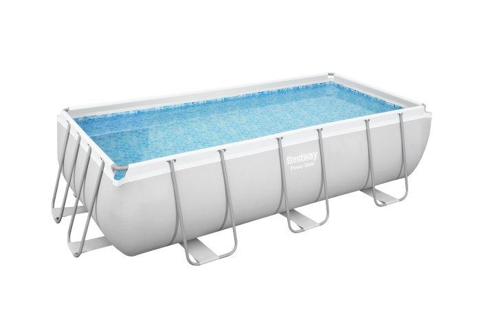 Bestway pool Power Steel 6478 liter - firkantet