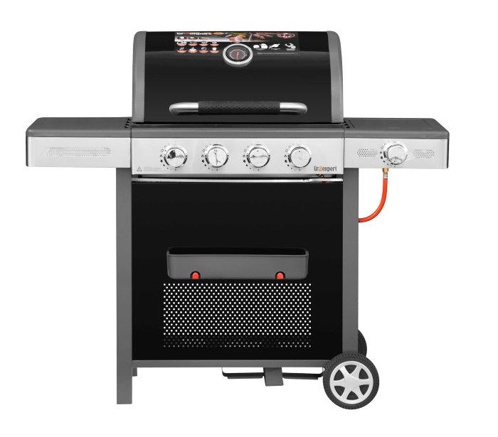 Gasgrill 4 brændere og sidebrænder - Grillexpert Premium