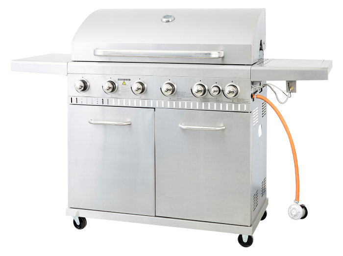 Gasgrill 6 brændere og sidebrænder - Grillexpert