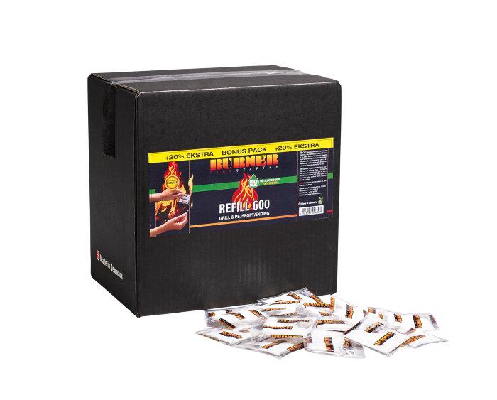 Burner optændingsposer 600 stk.