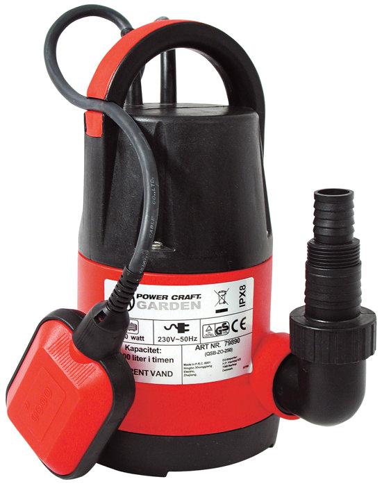 Dränkbar pump för rent vatten