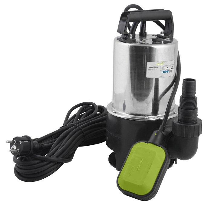 Dränkbar pump för smutsigt vatten