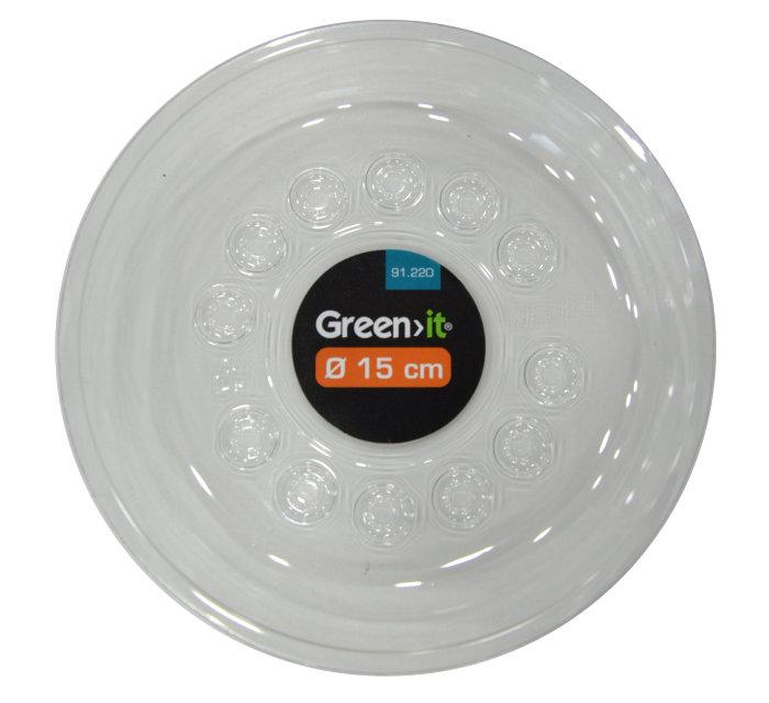 Krukfat 15 cm - transparent plast