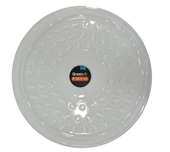 Krukfat 30,5 cm - transparent plast