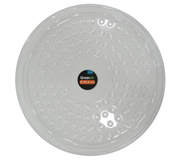 Krukfat 35,5 cm - transparent plast