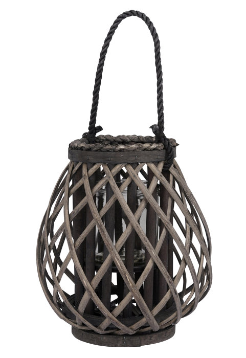 Lanterne i rattan - Ø24 x H26 cm