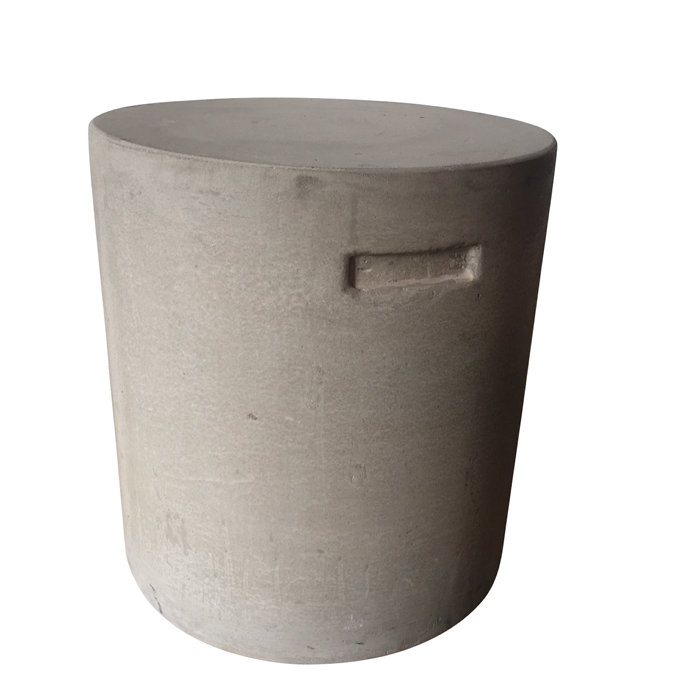Rund pall eller sidobord i betong