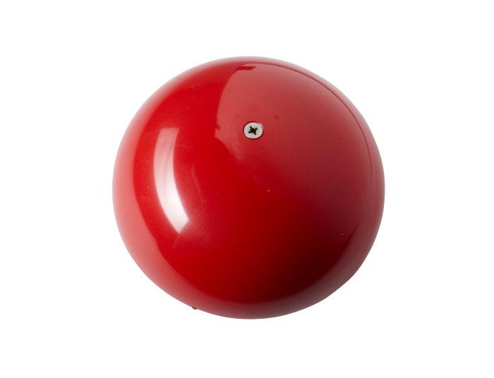 Flagknop rød plast 160 mm
