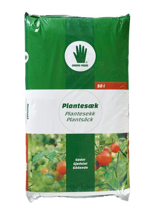Plantesæk 50 liter - Grønne Fingre