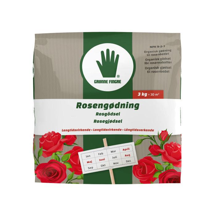Grønne Fingre rosegjødsel 3 kg