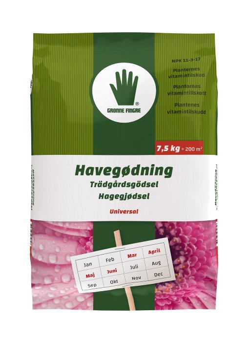 Grønne Fingre havegødning 7,5 kg