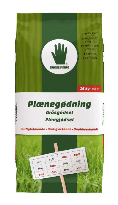 Grønne Fingre plænegødning 17 kg