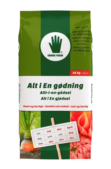 Grønne Fingre alt-i-en gødning 17 kg