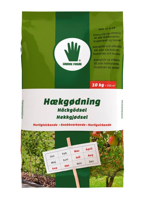 Hekkgjødsel 10 kg - Grønne Fingre
