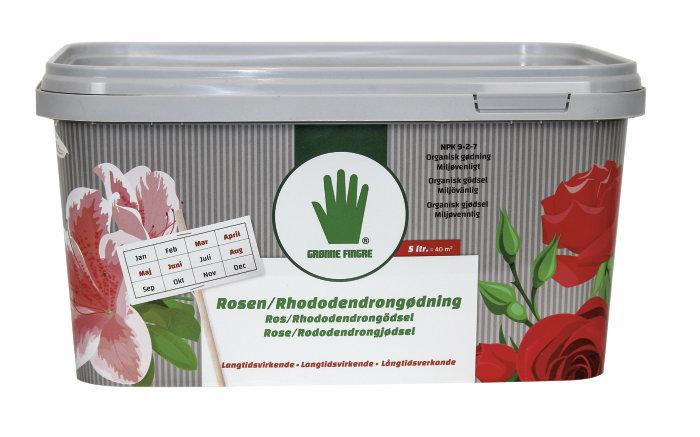 Grønne Fingre rosen/rhododendron gjødsel 5 liter