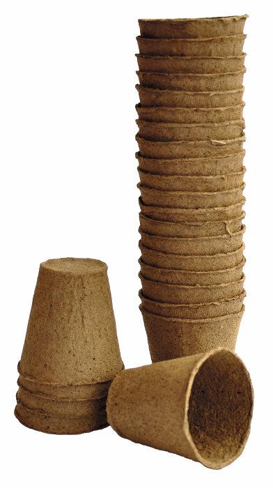 Torvpotter runde 6 cm 24 stk.
