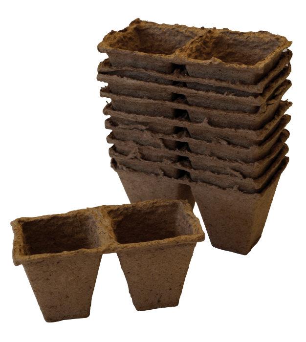 Torvpotter firkantet 6 cm - 20 stk.
