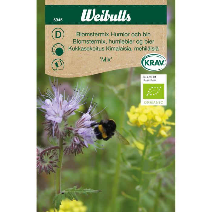Blomstermix, humlebier og bier økologisk