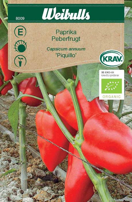Peberfrugt økologisk - Piquillo