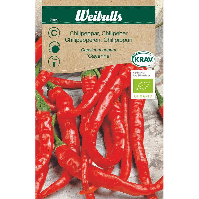 Chilipeber økologisk - Cayenne