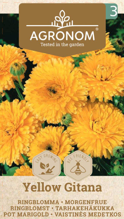 Frö Ringblomma Yellow Gitana