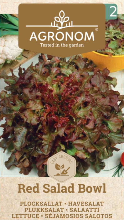 Frö Sallat Plock Red Salad Bowl