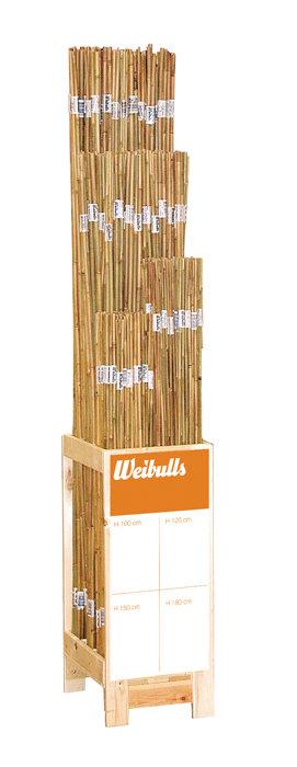 Bambuspinde 150 cm 3 stk.
