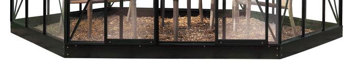 Galvaniseret stålsokkel til Halls Atrium 9,0 m²