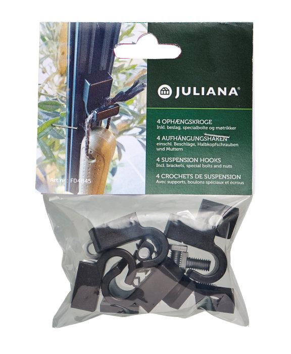 Juliana ophængskroge - 4 stk
