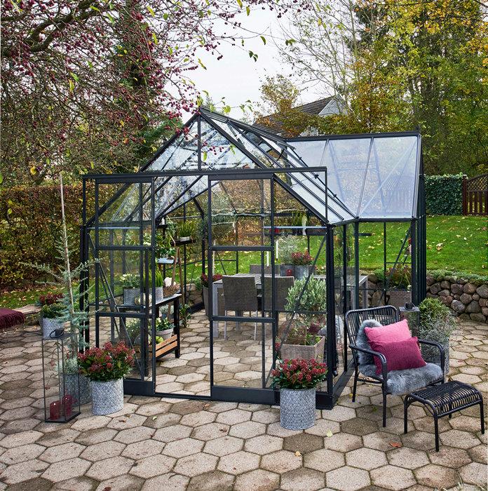Halls Garden Room 12,9 m² antracitgrå