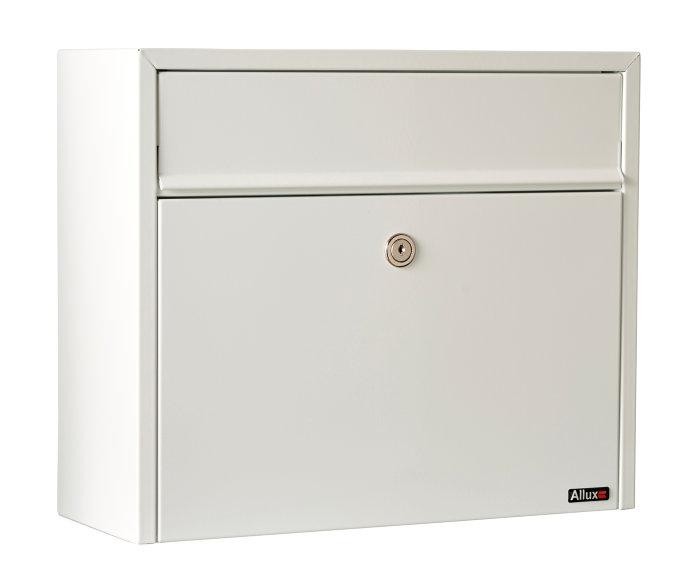 Allux postkasse 110 – hvid (cylinderlås)