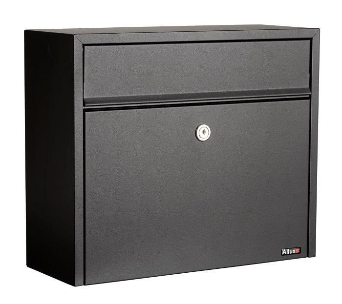 Allux postkasse 110 – sort (cylinderlås)