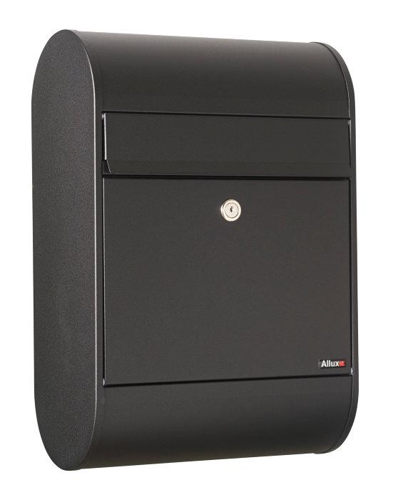 Allux postkasse 320 – sort (cylinderlås)