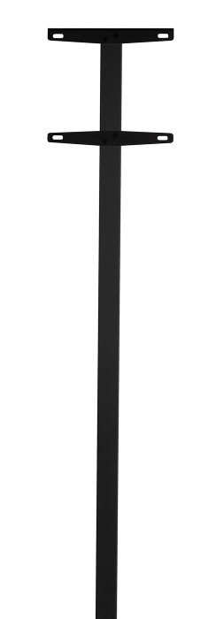 Allux enkelt postkassestander 1003 - sort