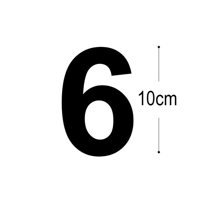 Folietal 6 til postkasse – sort